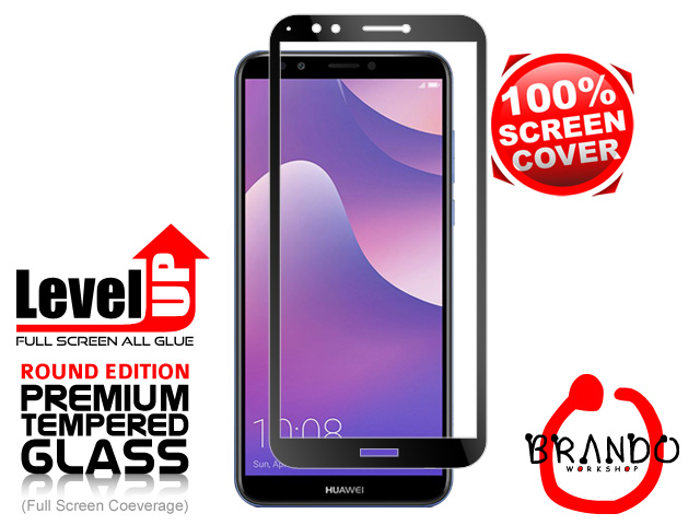 Brando Workshop Full Screen Coverage Glass Protector (Huawei Y7 Pro (2018)) - Black