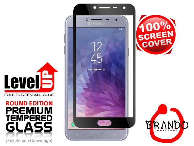 Brando Workshop Full Screen Coverage Glass Protector (Samsung Galaxy J4) - Black