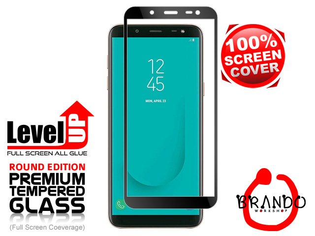 Brando Workshop Full Screen Coverage Glass Protector (Samsung Galaxy J6) - Black