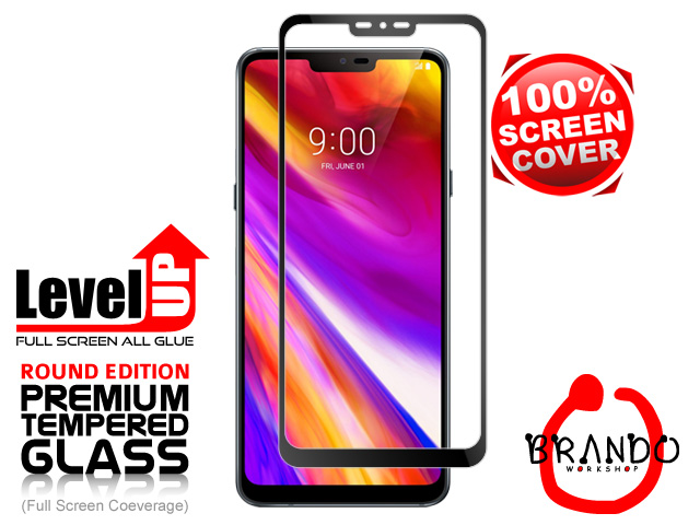 Brando Workshop Full Screen Coverage Glass Protector (LG G7 ThinQ) - Black
