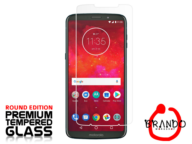 Brando Workshop Premium Tempered Glass Protector (Rounded Edition) (Motorola Moto Z3 Play)