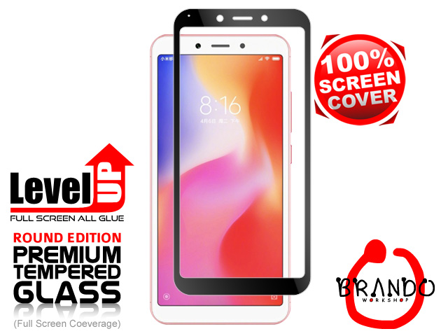 Brando Workshop Full Screen Coverage Glass Protector (Xiaomi Redmi 6) - Black