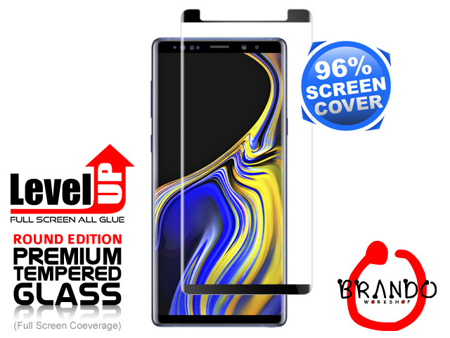 Brando Workshop 96% Half Coverage Curved Glass Protector (Samsung Galaxy Note9) - Black