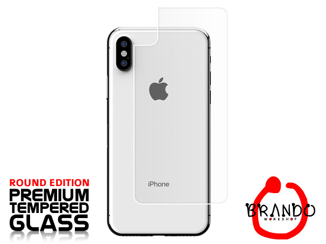 Brando Workshop Premium Tempered Glass Protector (Rounded Edition) (iPhone XS (5.8) - Back Cover)