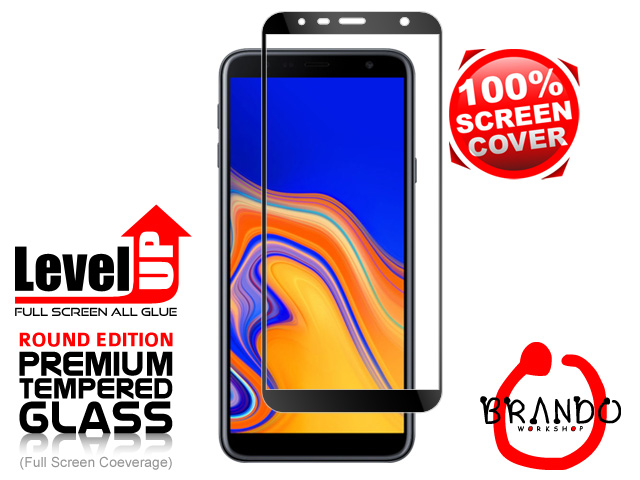 Brando Workshop Full Screen Coverage Glass Protector (Samsung Galaxy J4+ (2018)) - Black