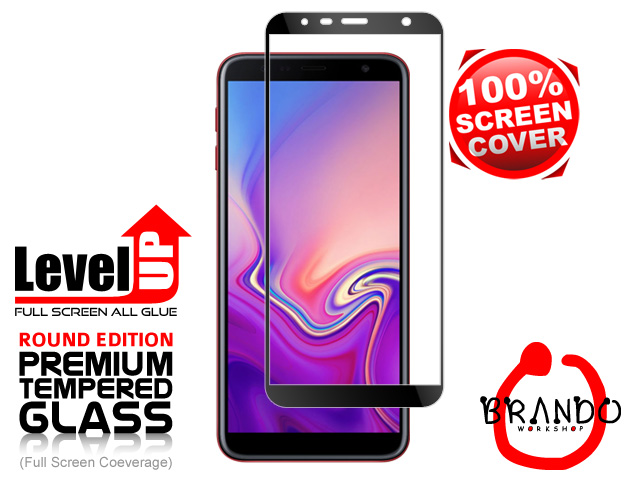 Brando Workshop Full Screen Coverage Glass Protector (Samsung Galaxy J6+ (2018)) - Black
