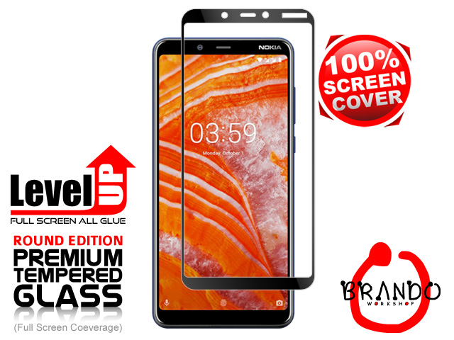 Brando Workshop Full Screen Coverage Glass Protector (Nokia 3.1 Plus) - Black