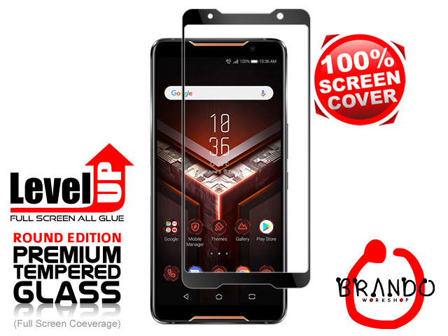 Brando Workshop Full Screen Coverage Glass Protector (Asus ROG Phone) - Black