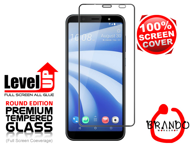 Brando Workshop Full Screen Coverage Glass Protector (HTC U12 Life) - Black