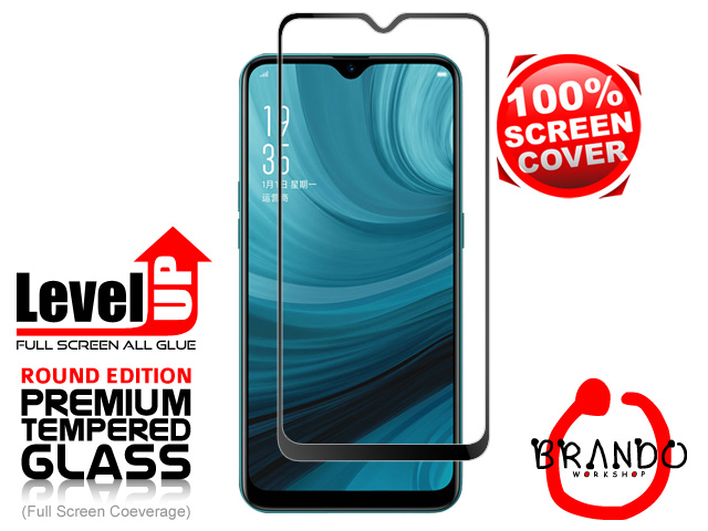 Brando Workshop Full Screen Coverage Glass Protector (OPPO A7) - Black