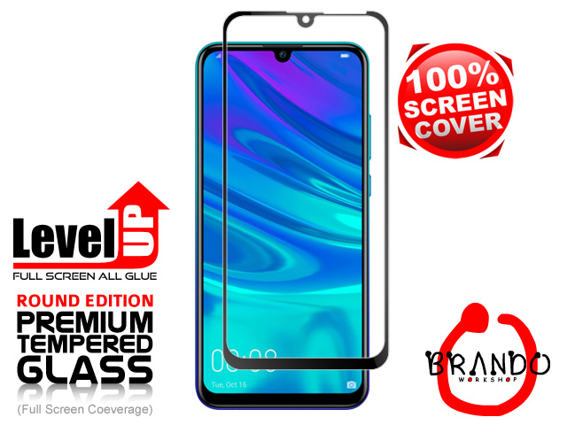 Brando Workshop Full Screen Coverage Glass Protector (Huawei P Smart (2019)) - Black