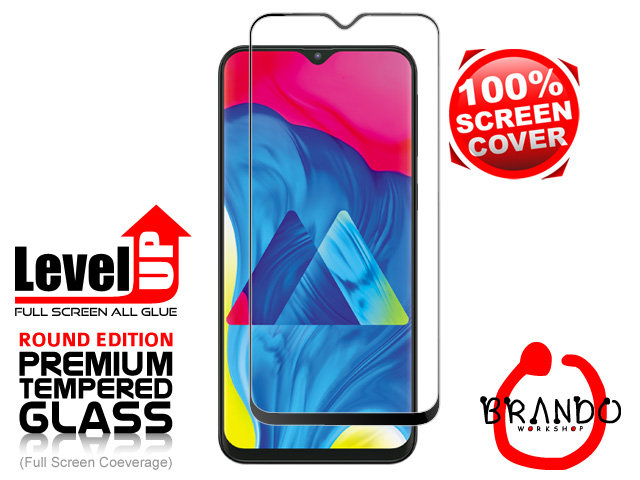 Brando Workshop Full Screen Coverage Glass Protector (Samsung Galaxy M20) - Black
