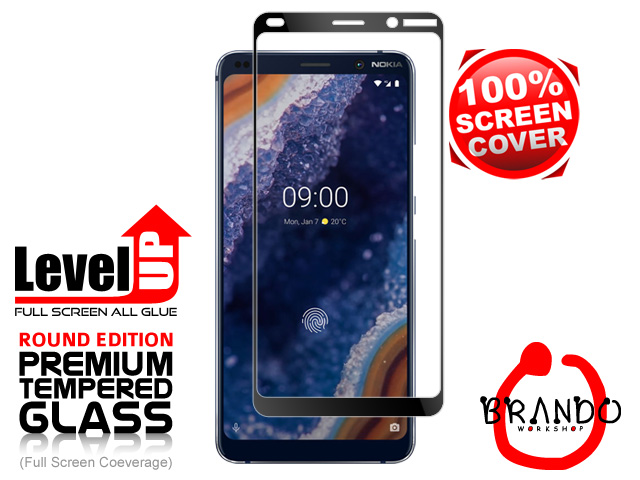 Brando Workshop Full Screen Coverage Glass Protector (Nokia 9 PureView) - Black