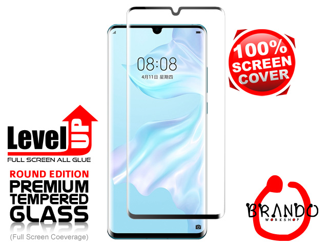 Brando Workshop Full Screen Coverage Curved Glass Protector (Huawei P30 Pro) - Black