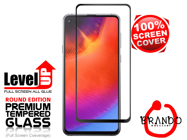 Brando Workshop Full Screen Coverage Glass Protector (Samsung Galaxy A60) - Black