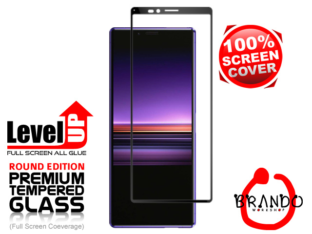 Brando Workshop Full Screen Coverage Glass Protector (Sony Xperia 1) - Black