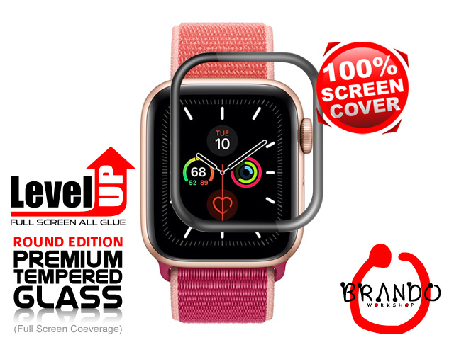 Brando Workshop Full Screen Coverage Glass Protector (Apple Watch 5 (2019)) - Black