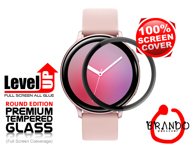 Brando Workshop Full Screen Coverage Glass Protector (Samsung Galaxy Watch Active2) - Black