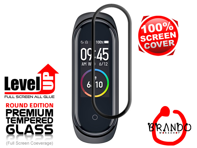 Brando Workshop Full Screen Coverage Glass Protector (Xiaomi Mi Band 4 SH07HM) - Black
