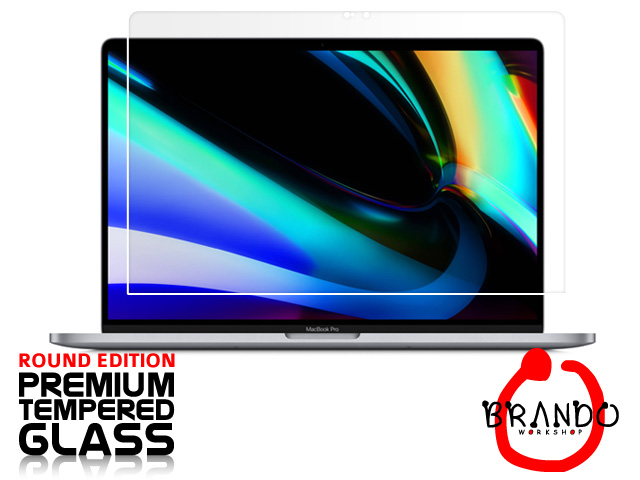 "Brando Workshop Premium Tempered Glass Protector (Rounded Edition) (MacBook Pro 16"" (2019))"