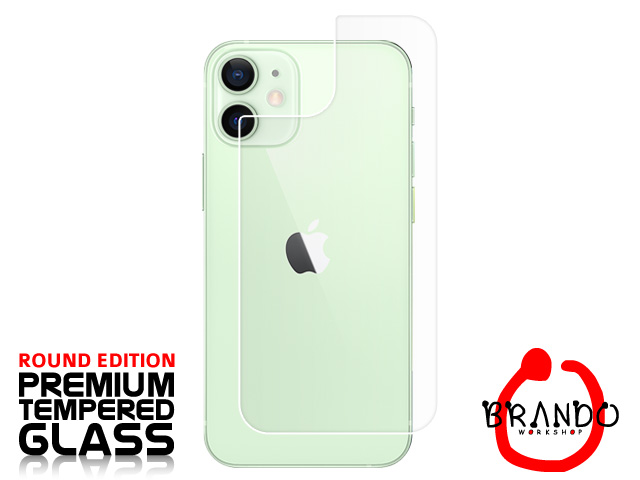 Brando Workshop Premium Tempered Glass Protector (Rounded Edition) (iPhone 12 mini (5.4) - Back Cover)