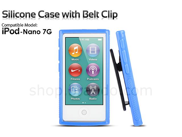 ipod nano 7g silicone case w belt clip. Black Bedroom Furniture Sets. Home Design Ideas