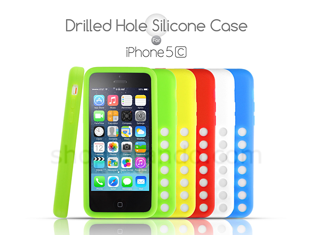 iphone 5c silicone case drilled silicone for iphone 5c 14701