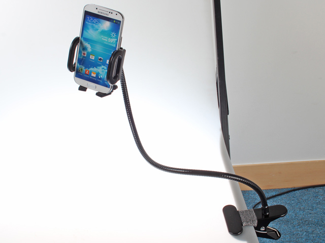 Universal Gooseneck Long Arm Clip-on Phone Holder for Smartphones
