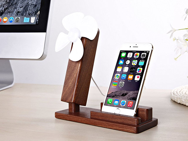 Seenda Woody Smartphone Stand with USB Fan