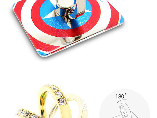 Smart Grip MARVEL Finger Ring Mount Stand Holder - Captain America