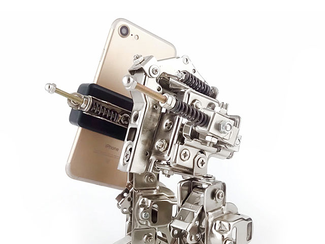 DIY Metal Mini Walker Robot Smartphone Holder