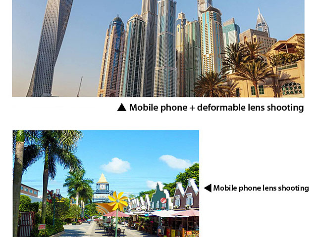 Universal 1.33X Widescreen Deformation Clip-On Phone Camera Lens