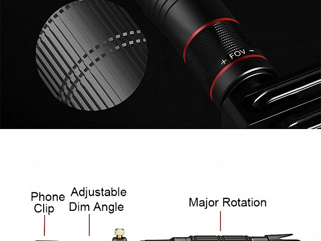 Universal 36X Zoom HD Telescope with Tripod Stand