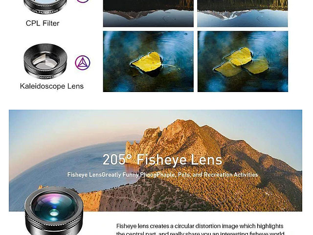 11-in-1 Smartphone Camera Optical Filter Lens Kits with Clip