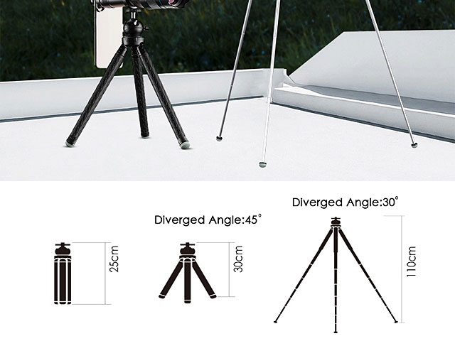 60X Monocular Telescope Lens with Tripod Stand