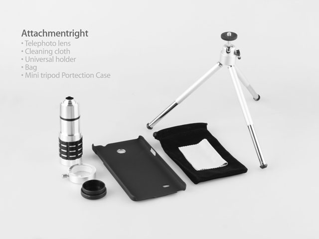 Professional Samsung Galaxy Note 4 12x Zoom Telescope with Tripod Stand (Silver)