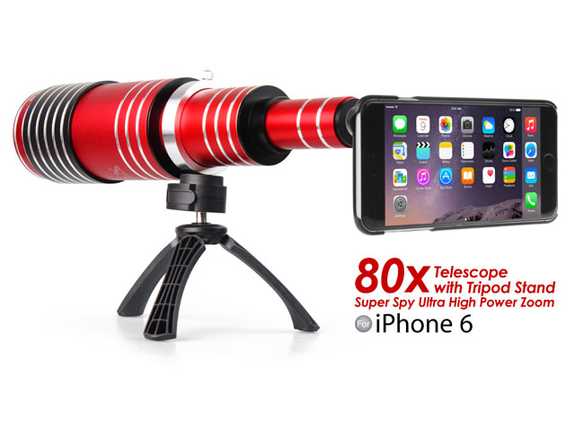 iPhone 6 / 6s Super Spy Ultra High Power Zoom 80X Telescope with Tripod Stand