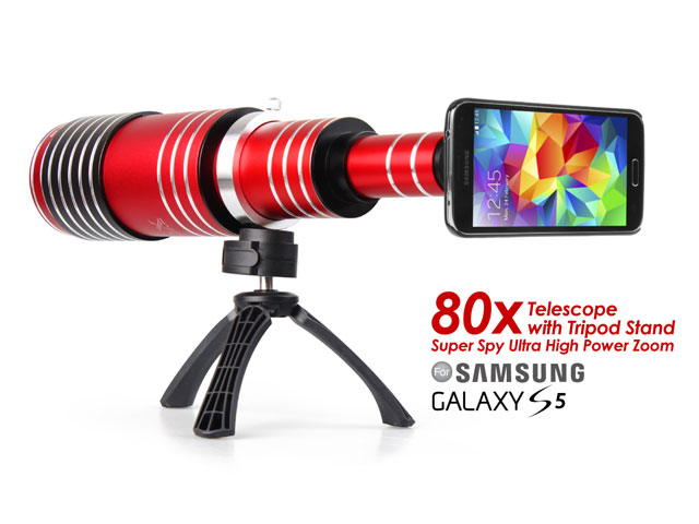 Samsung Galaxy S5 Super Spy Ultra High Power Zoom 80X Telescope with Tripod Stand