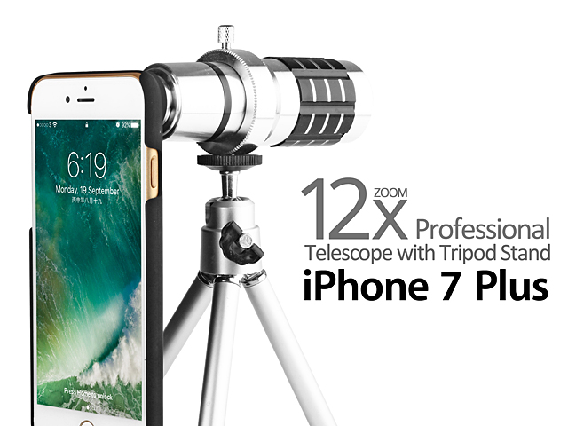 online store c5afb 0dfa2 Professional iPhone 7 Plus 12x Zoom Telescope with Tripod Stand