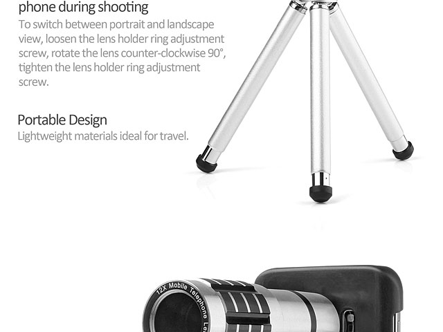Professional Samsung Galaxy S7 edge 12x Zoom Telescope with Tripod Stand