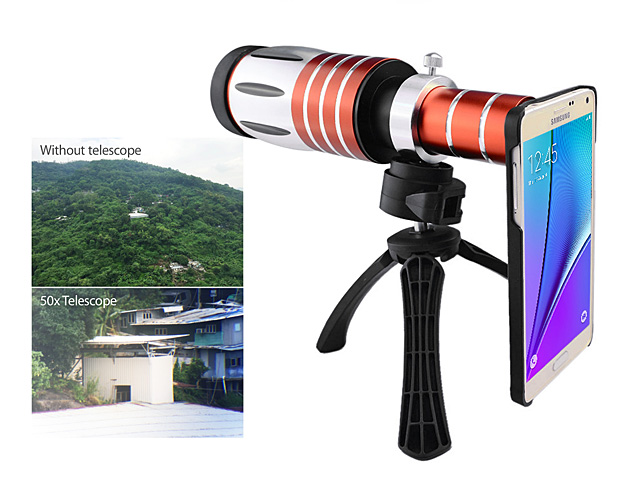 Samsung Galaxy Note5 Super Spy Ultra High Power Zoom 50X Telescope with Tripod Stand