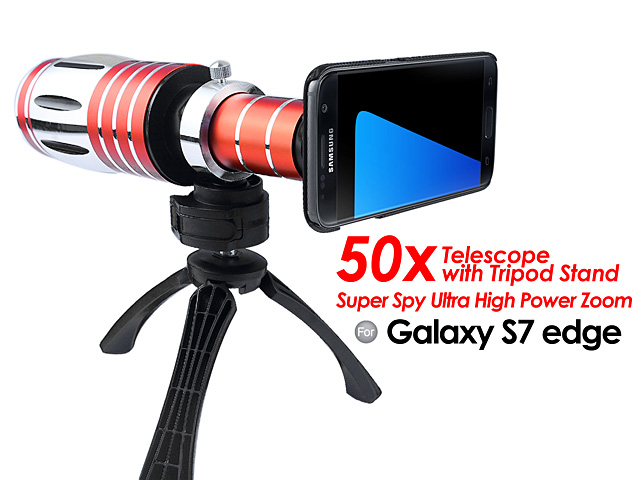 Samsung Galaxy S7 edge Super Spy Ultra High Power Zoom 50X Telescope with Tripod Stand