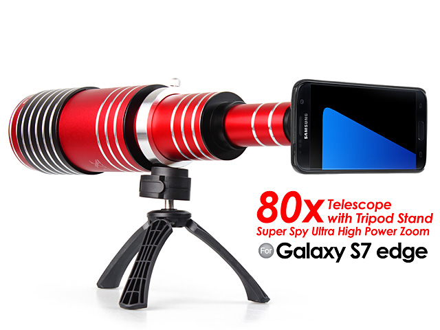 Samsung Galaxy S7 edge Super Spy Ultra High Power Zoom 80X Telescope with Tripod Stand