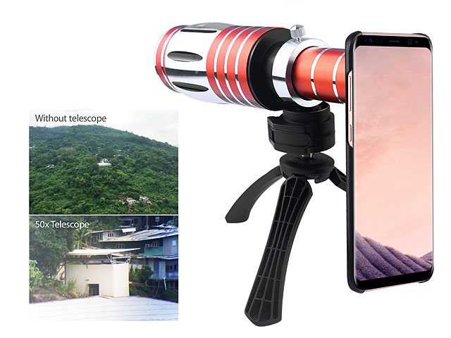 Samsung Galaxy S8+ Super Spy Ultra High Power Zoom 50X Telescope with Tripod Stand