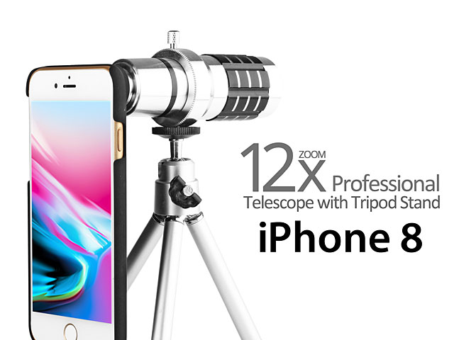 Professional iPhone 8 12x Zoom Telescope with Tripod Stand