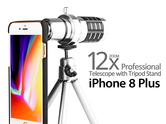 Professional iPhone 8 Plus 12x Zoom Telescope with Tripod Stand