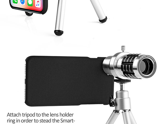 Professional iPhone X 12x Zoom Telescope with Tripod Stand