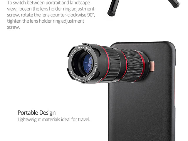Professional Samsung Galaxy S9 4-12x Zoom Telescope with Tripod Stand