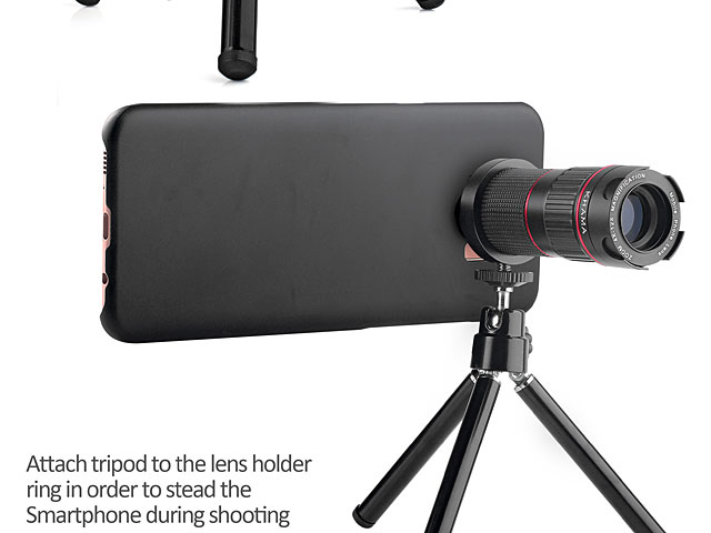 Professional Samsung Galaxy S9+ 4-12x Zoom Telescope with Tripod Stand