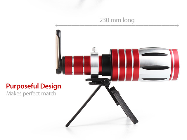 iPhone XS Max (6.5) Super Spy Ultra High Power Zoom 50X Telescope with Tripod Stand